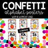 Confetti and White Alphabet Posters