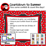 Confetti-theme Summer Countdown:  Count down the days left!