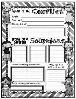 Confict & Solution Interactive Posters - Legal Size- Matching Graphic Organizer