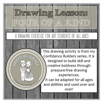 Confidence Builder Drawing Exercise. Sub Art Lesson. Drawing activity