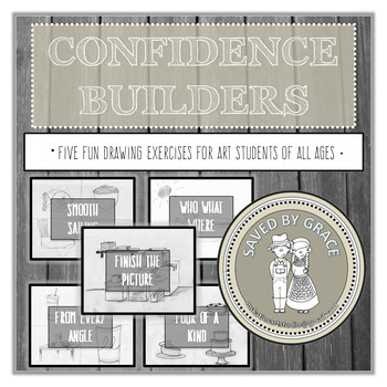 Confidence Builders Drawing Activities Bundle. No Prep Dra
