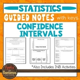 Confidence Intervals - Statistics INB Activities & Guided Notes