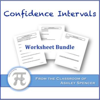 Confidence Intervals Worksheet Bundle