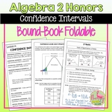 Confidence Intervals and Hypothesis Testing Foldable