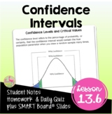Confidence Intervals and Hypothesis Testing (Algebra 2 - Unit 13)
