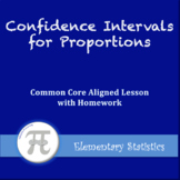 Confidence Intervals for Proportions (Lesson with Homework)