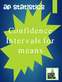 AP Statistics - Confidence Intervals for means