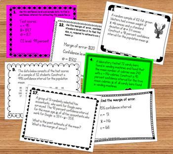 Confidence Intervals for the Mean- Statistics, AP Statistics