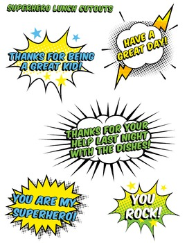Confidence Super Hero Cut Outs