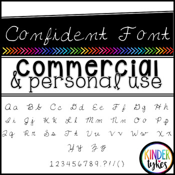 Confident Font by Kinder Tykes for Personal & Commercial Use