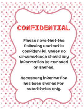 Confidential Information Cover Sheet