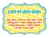 Confidential Sign