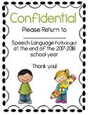 Confidential Speech File Cover