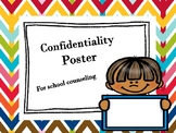 Confidentiality Poster for School Counseling Office