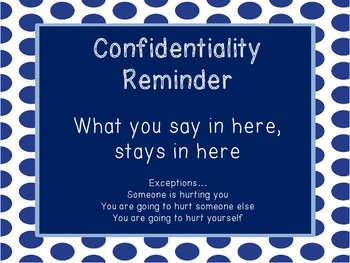 Confidentiality Poster for School Counselors
