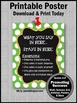 Green Polka Dot School Counselor Confidentiality Rules Sign 8x10 16x20