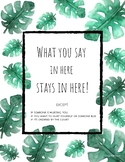 Confidentiality - What you say in here