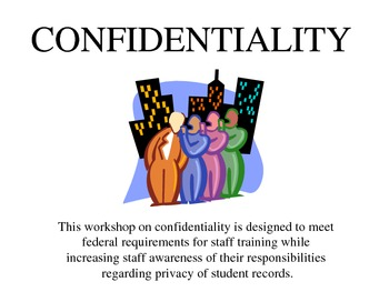 Confidentiality/FERPA Training for Special Educator/School Staff