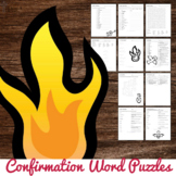 Confirmation Word Puzzles : No Prep Catholic Activity