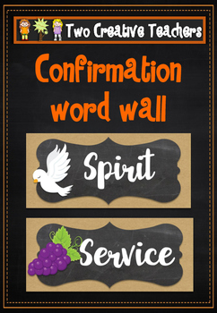 Confirmation Words with Clip Art