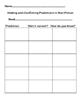 Confirming Predictions in Nonfiction