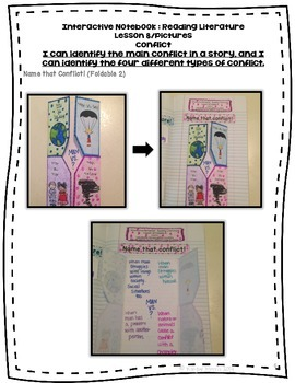 Conflict Foldables for Interactive Notebooks