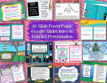 Conflict Bundle Pack: Types of Conflict PowerPoint, Gr.Orgs,Sorting Cards & MORE