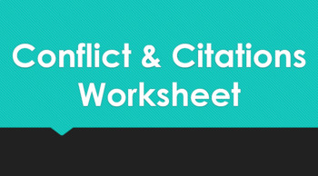 Conflict & Citations Worksheet