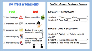 Conflict Corner - Posters and Instruction