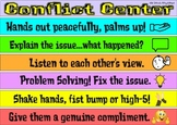 Conflict Corner = reduce tattling in PE - Social Emotional