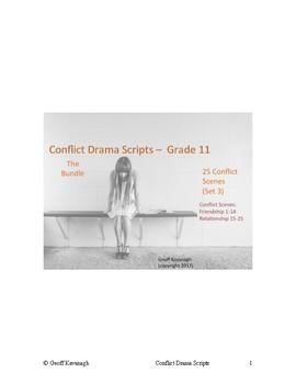 Conflict Scripts  Grade 11 Drama Scenes - Bundle