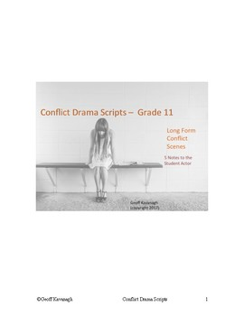 Conflict Drama Scripts - Notes to the Student Actor - Grade 11