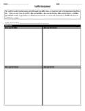 Conflict Graphic Organizer Worksheet