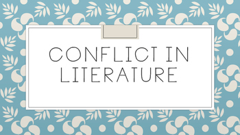 Conflict In Literature PDF PowerPoint- Internal and External Conflicts