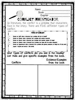 Literature Circle Response Form- Conflict Investigator
