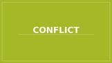 Conflict Lesson & Related Activities