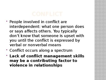 Conflict Management-for older students-high school and beyond