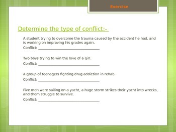 Conflict PPT Bundle - Literature Literary Elements (EDITABLE)
