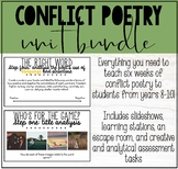 MIDDLE & HIGH SCHOOL POETRY: CONFLICT POETRY UNIT