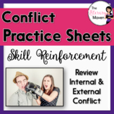 Conflict Practice Sheets - 3 Handouts on Internal & Extern