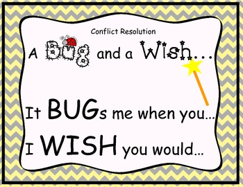 Conflict Resolution: A Bug and A Wish