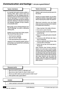 Conflict Resolution – Ages 5-7