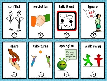 Conflict Resolution Trading Card Activities