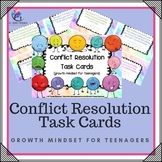 Conflict Resolution Cards - social skill and growth mindset for teenagers