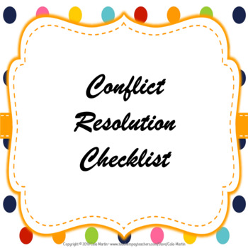 Conflict Resolution Checklist