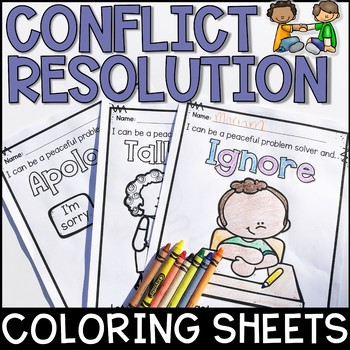 Conflict Resolution Coloring Sheets FREEBIE