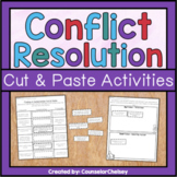 Conflict Resolution Cut and Paste Activities For Friendship Skills Lessons