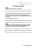 Conflict Resolution Dialogue Worksheet