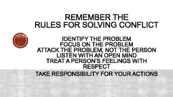 Conflict Resolution - Editable Powerpoint
