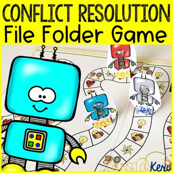 Conflict Resolution Counseling Game: File Folder Game for School Counseling